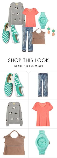"""""""Panda Face"""" by thebeautyko ❤ liked on Polyvore featuring Vans, Eddie Bauer, Wildfox, Calypso St. Barth and Toy Watch"""