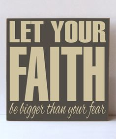 This Dark Sparrow & Cream 'Let Your Faith' Wall Sign by Vinyl Crafts is perfect! #zulilyfinds