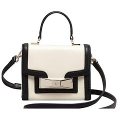 Pre-owned Kate Spade Carroll Park Mini Penelope Black And White Cross... (910 PLN) ❤ liked on Polyvore featuring bags, handbags, shoulder bags, bolsas, purses, сумки, black and white, mini crossbody, handbags crossbody and hand bags