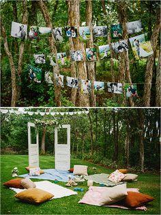 picnic style shower | diy shower ideas | backyard shower | #weddingchicks