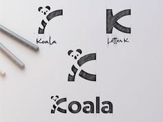 Koala Logo Design (SOLD OUT) designed by Garagephic Studio. Connect with them on Dribbble; the global community for designers and creative professionals. Logo Desing, Branding Design, Best Logo Design, Logo Sketches, Typography Sketch, K Logos, Negative Space Logos, Logo Process, Mountain Logos