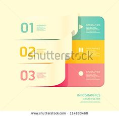 stock vector : Modern soft color Design template  / can be used for infographics / numbered banners / horizontal cutout lines / graphic or website layout vector