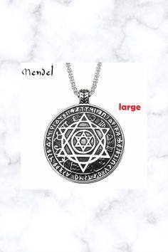 Stainless Steel Jewish Star of David Hexagram Pendant Necklace