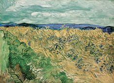 Wheatfield With Cornflower - Auvers-sur-oise, France  1890