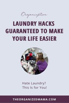 Hate laundry? These 3 laundry hacks will help! I am sharing the best ways to get laundry put away with ease. #laundryhacks