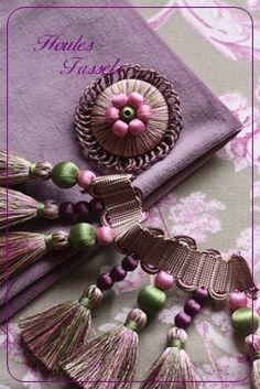 Purple Tassel Trim