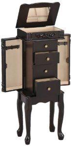 amazoncom acme 16008 tiana jewelry armoire espresso finish amazoncom antique jewelry armoire