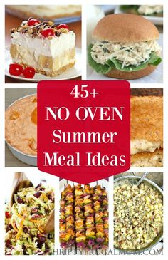 Hate heating your kitchen to make meals when its hot outside? Check out these great no oven dinner ideas perfect for summer!
