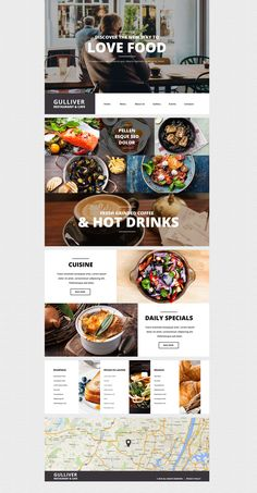 This is a great choice for modern cafe and restaurant Wordpress theme owners. Slider shows the images of restaurant environments,so that the website visitor Restaurant Website Design, Restaurant Layout, Restaurant Themes, Cafe Restaurant, Restaurant Dishes, Modern Restaurant, Website Design Inspiration, Design Blog, Page Design