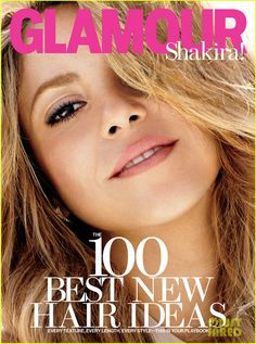 shakira covers glamour february 2014 02 Shakira sexily plays with her hair on the cover of Glamour magazine's February 2014 issue, on newsstands January 14.    Here's what the 36-year-old entertainer…