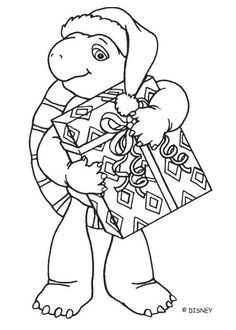 franklin at christmas coloring pages franklin footballer