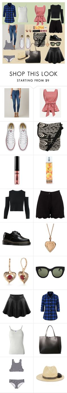 """didn't want to go"" by moestesoh ❤ liked on Polyvore featuring Levi's, Converse, Pilot, NYX, Nicole Miller, Boohoo, Dr. Martens, Don't AsK, Napier and Le Specs"