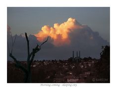 EARLY MORNING-SLEEPING CITY - (prints available), dawn, dusk, sky pictures, cloud photography, cumulus clouds, cumulonimbis