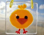 Little Chick Fused Glass Ornament