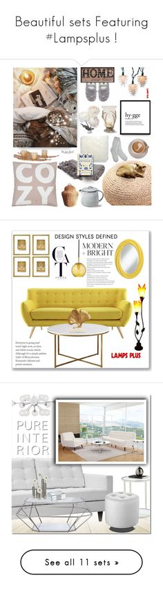 """Beautiful sets Featuring #Lampsplus !"" by lampsplus ❤ liked on Polyvore featuring design, decor, lampsplus, interior, interiors, interior design, home, home decor, interior decorating and UGG"