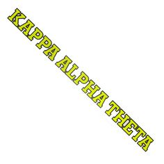 Kappa Alpha Theta Sorority Car Decal