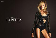 The La Perla Lingerie Fall/Winter 2014 Campaign features models Mariacarla Boscono and Daria Strokous.