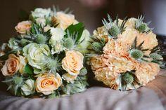 Bride & Bridesmaid Bouquet's <3 Peach Theme ~ Spring Wedding #Thistles&Roses