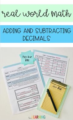 This real world math project is the perfect way to incorporate math and economics in your middle school or elementary classroom. This activity allows students to practice paying bills by writing checks in order to save money for a family trip. It is a cro Teaching Numbers, Teaching Math, Teaching Ideas, Math Resources, Math Activities, Classroom Resources, Math Classroom, I Love Math, Fun Math