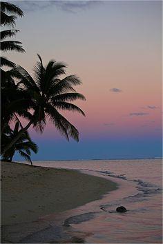 Sunset. Rarotonga, Cook Islands