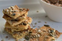 Vegetarian Yogi: Seeded Chickpea Crispbread