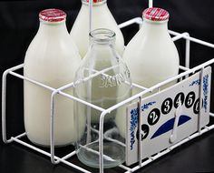 And Returned Bottles For The Deposit Old Milk Vintage Gl