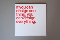 WANKEN - The Blog of Shelby White » The Five Vignelli-isms