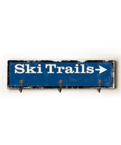 Another great find on #zulily! 'Ski Trails' Hanger Wall Hook by ArteHouse #zulilyfinds. Could paint this easily