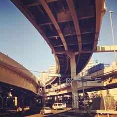 #flyover #overhead #road #tokyo #highway