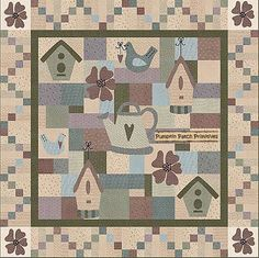 Summer Garden Quilt Pattern - Free Printable Quilting Pattern
