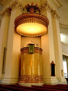 The pulpit of Helsinki Cathedral.