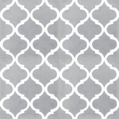 Zementfliesen 2382 Fliese Grey Orientalisch