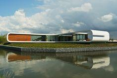 Luxury Homes....Designed in 2014 by Koen Olthuis of Waterstudio Nl, this futuristic residence is located in Naaldwijk, Netherlands.