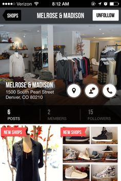 Local boutique shopping app The Nearby