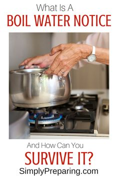 WHAT Is A Boil Notice and How Can You Survive It_ Prepare your family for times of unsafe tap water by learning how to purify and disinfect water during a boil water notice. Survival Food, Outdoor Survival, Survival Knife, Survival Prepping, Survival Skills, Survival Videos, Survival Hacks, Survival Stuff, Survival Equipment