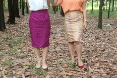 Left Gayatri Purple, Right Chanani Nude Short  Rp 99k SMLXL #span #short #skirt #purple #calm #chic #fashion #uptodate
