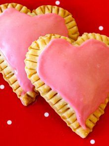 Valentine's Day raspberry cream cheese heart tarts