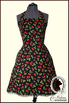 Cute and affordable but ships from Switzerland --- Cherry Dress  Rockabilly Dress by MadameCurieuse on Etsy, 25.00