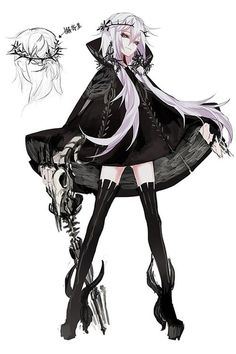 shinigami D Luna [one piece] - chapter 29 - - . - shinigami D Luna [one piece] – chapter 29 – – - Anime Oc, Anime Demon, Anime Chibi, Manga Anime, Manga Girl, Anime Art Girl, Dark Anime Girl, Anime Style, Art Anime Fille