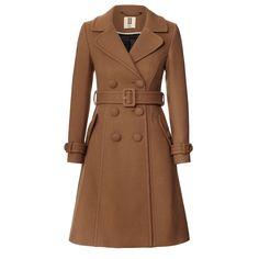 orla kiely camel coat
