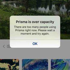 #prisma tuli Android-laitteille. Palvelu kyykkäsi samantien. #t #fb #potkukelkkacom