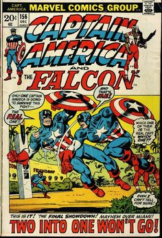 Captain America 156 Marvel 1972 VG Falcon Bucky Torch Of Friendship Miami b31bf3c2235