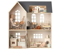 Maileg House of Miniature Ultimate Dollhouse – Rose & Rex Wooden Dollhouse, Wooden Dolls, Dollhouse Furniture, Dollhouse Miniatures, Ikea Dollhouse, Homemade Dollhouse, Dollhouse Interiors, Victorian Dollhouse, Dollhouse Ideas
