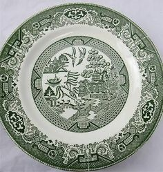 Willow Ware by Royal China Green Dinner Plates 10 inch Diameter | eBay