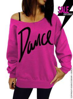 Dance - Pink Slouchy Oversized Sweatshirt by DentzDesign
