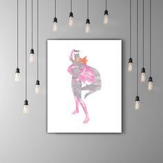 Batgirl Birthday Decor, Nursery Decor Girl Illustration, DC Superhero Girls Room Wall Decor, Bat Girl Super Hero Decor, Pink And Grey Art by PRINTANDPROUD on Etsy