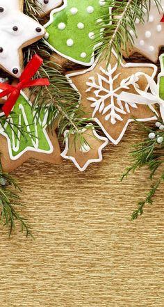 Wallpaper Christmas cookies, New Year Christmas Mood, Christmas And New Year, Christmas Decorations, Christmas Ornaments, Holiday Decor, Holiday Wallpaper, Holiday Cookies, Merry Xmas, Xmas Food