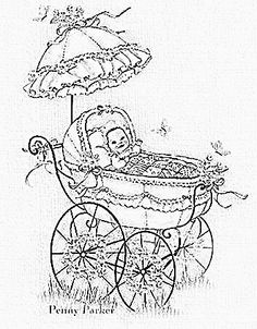 z Colouring Pages, Coloring, Baby Drawing, Baby Prams, Vintage Pictures, Om, Clip Art, Printables, Babies