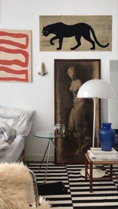 This Ivy House - urbnite: Panthella Floor Lamp by Verner Panton Home Interior Design, Interior Architecture, Interior Decorating, Decorating Bedrooms, Interior Colors, Interior Modern, Interior Inspiration, Design Inspiration, Home And Deco
