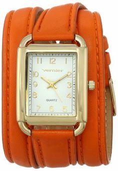 Vernier Women's VNR11153OR Vernier Analog Display Japanese Quartz Orange Watch Vernier Amazon ~ $28.50